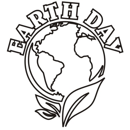 452x452 Earth Day Black And White Clipart