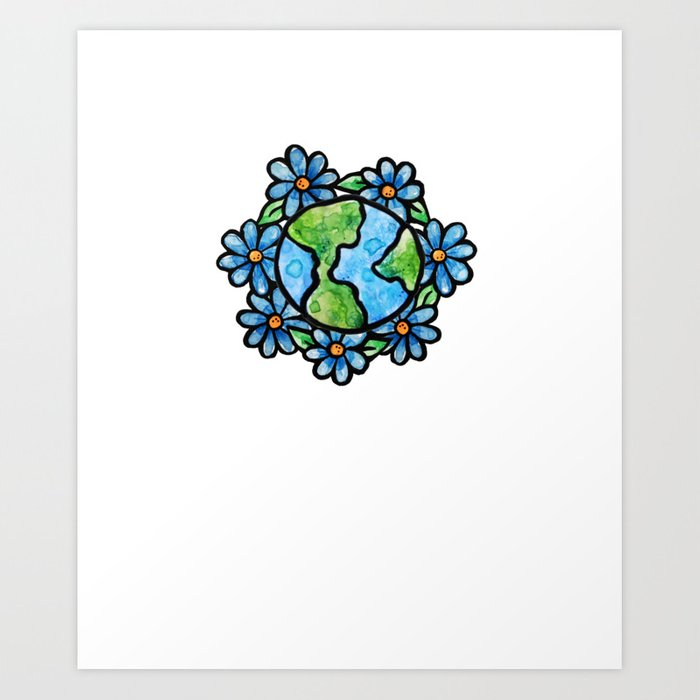 700x700 Floral Earth Day Art Print