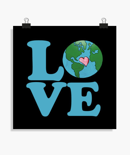 437x520 Love Earth Day Art Poster