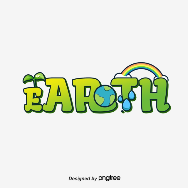 640x640 Cartoon Lovely Earth Day Art Font Art Font For Free Download