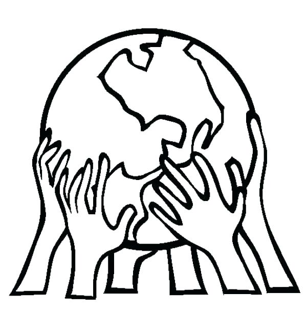 600x612 Coloring Pages Earth Earth Coloring