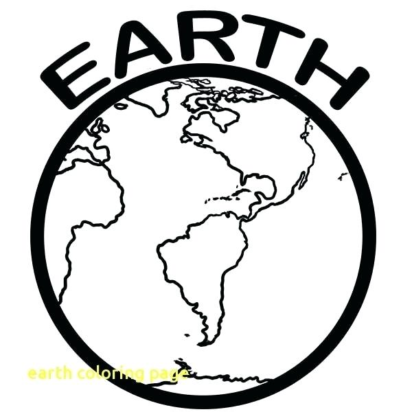 600x600 Earth Coloring Pages Earth Coloring