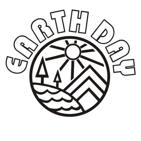452x452 Earth Day Clipart Black And White