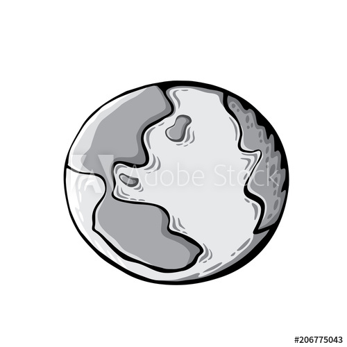 500x500 Earth Drawing On White Background World Map Or Globe In Doodles