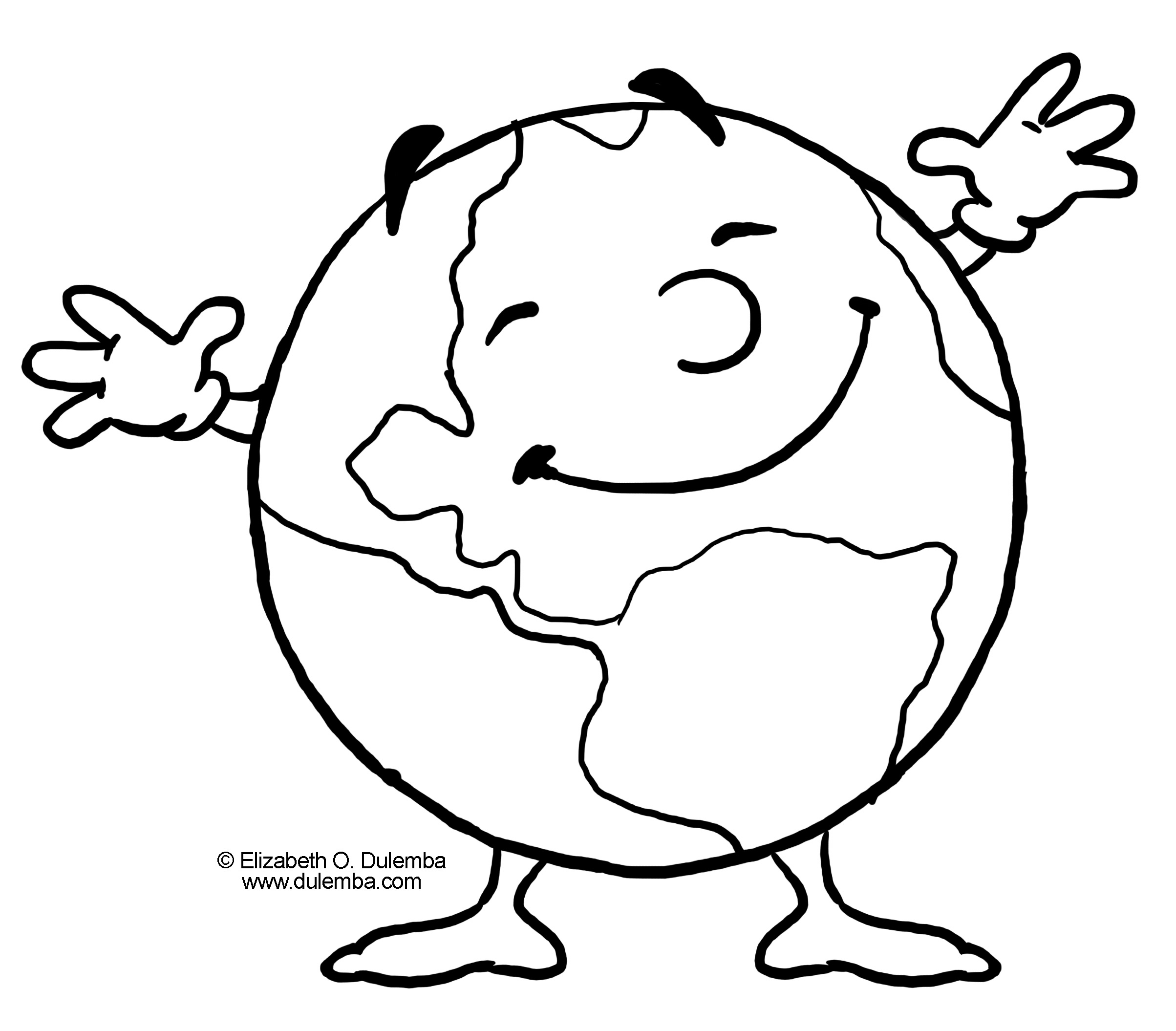 2407x2110 Love And Save The Earth Day Coloring