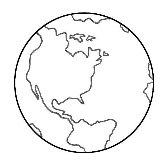 575x575 Globe Drawing Earth Planet For Free Download