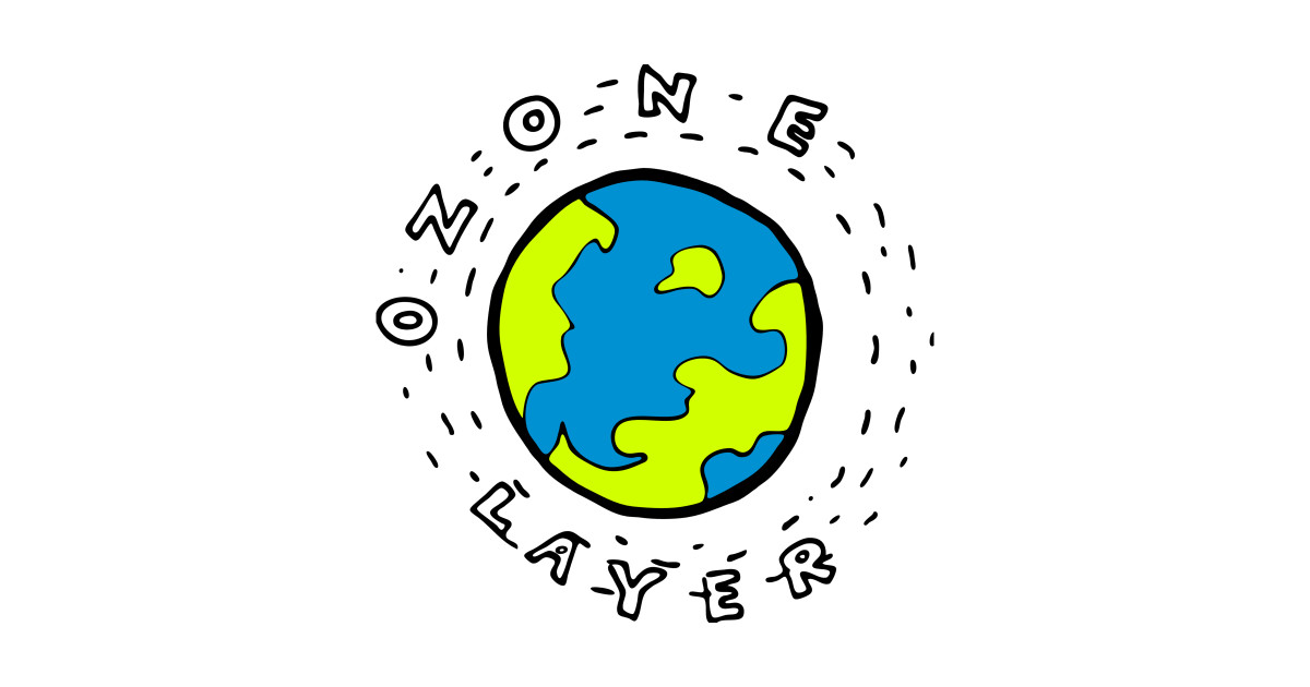 1200x630 Earth's Ozone Layer Drawing Clipart