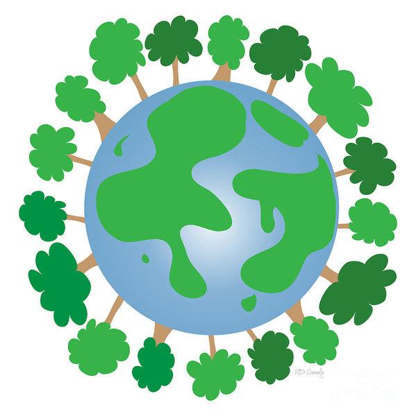 599x600 Green Earth Drawings Fine Art America