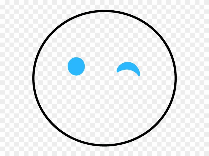 880x660 How To Draw Wink Emoji