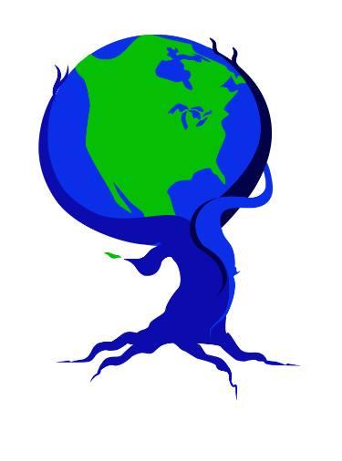 375x506 Tree Hugging Earth Drawing