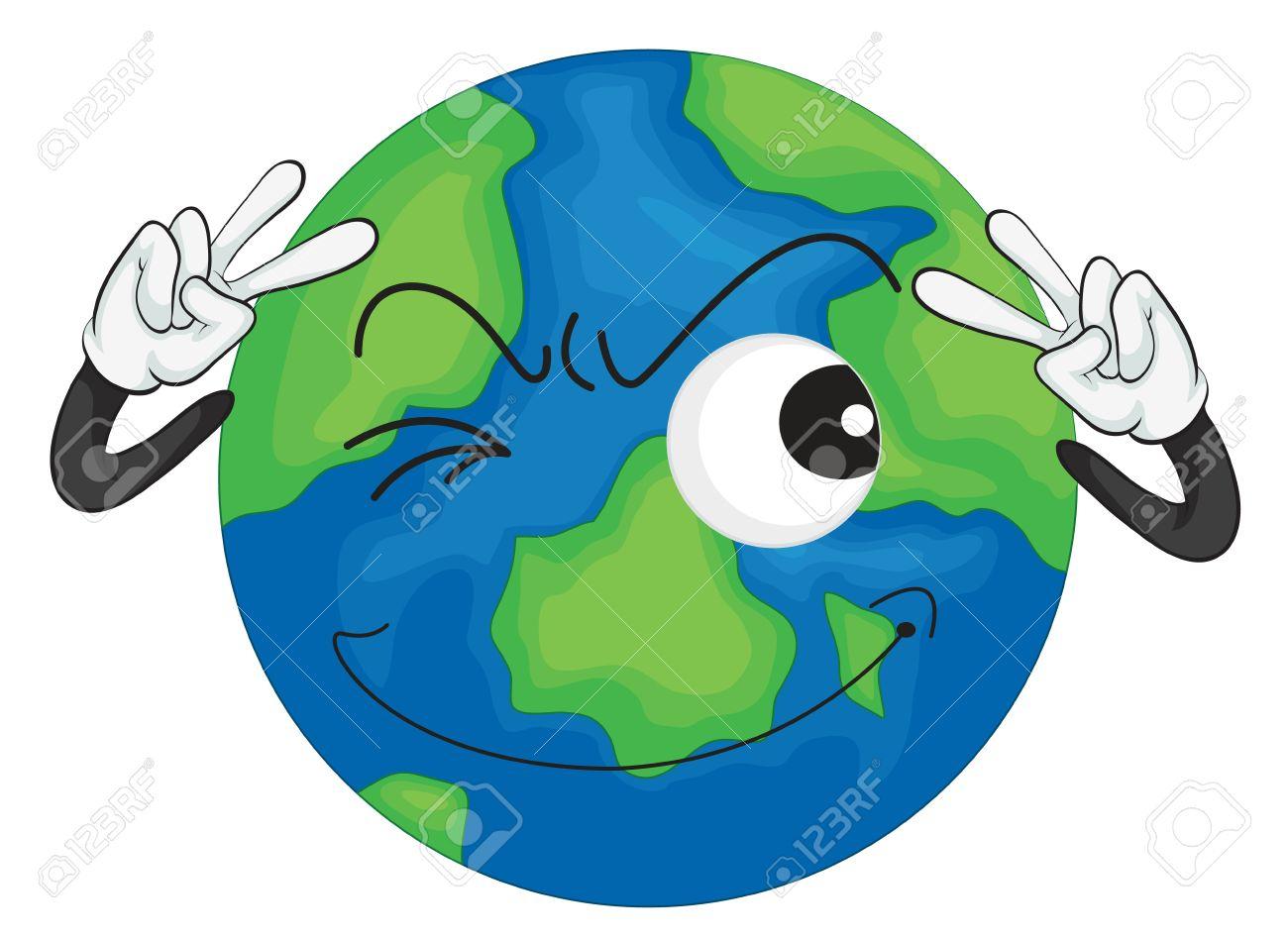 1300x947 Cartoon Earth Drawing Earth Cartoon Drawing At Getdrawings Free
