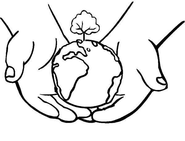 600x456 Earth In Hands Clipart Black And White