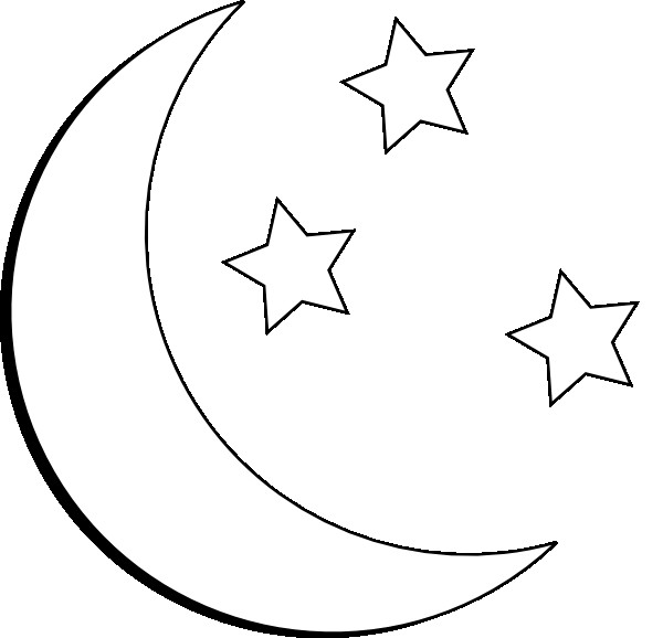 600x578 Earth Moon Sun Clipart With Moon Clipart Black And White