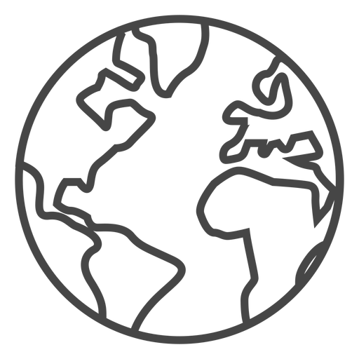 512x512 Earth Stroke Icon