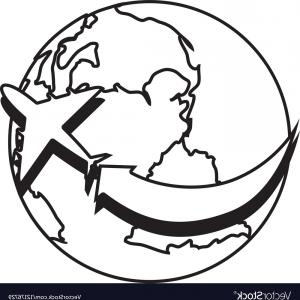 300x300 Photostock Vector Globe World Earth Planet Map Icon Vector