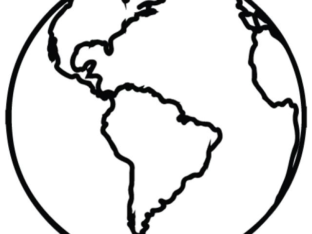 640x480 Planet Earth Clipart Black And White