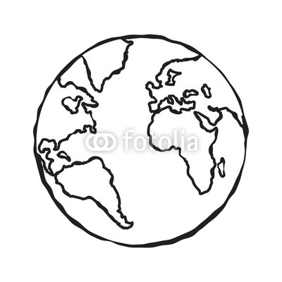 400x400 single black sketch of earth globe illustration planet earth