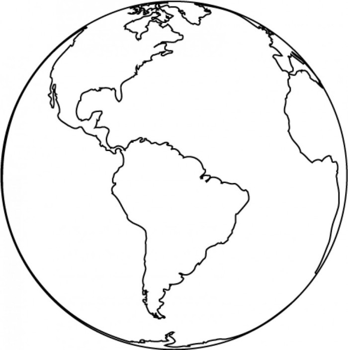 700x704 The Earth Clipart Black And White