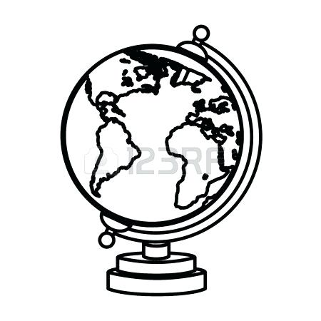 450x450 Black And White Globe Emoji Circu Schimera