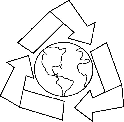 500x493 Cartoon Drawings Of For Earth Clip Art Black And White