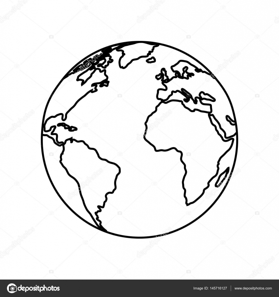 963x1024 World Drawing Planet For Free Download