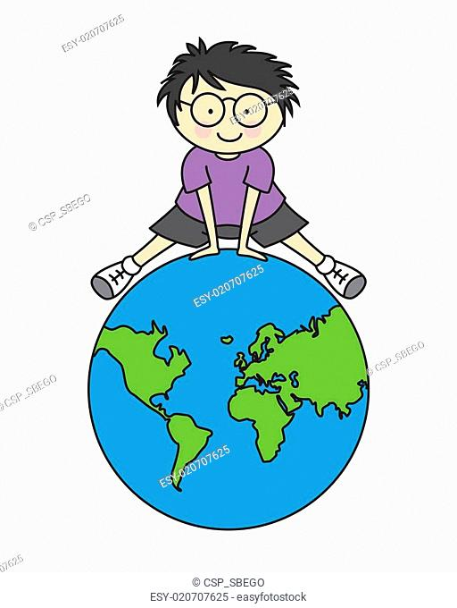 512x680 Kids Drawing World Map Stock Photos And Images Age Fotostock