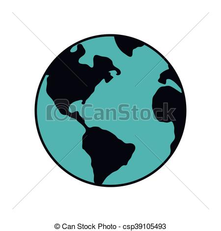 450x470 planet earth blue map icon vector graphic planet earth