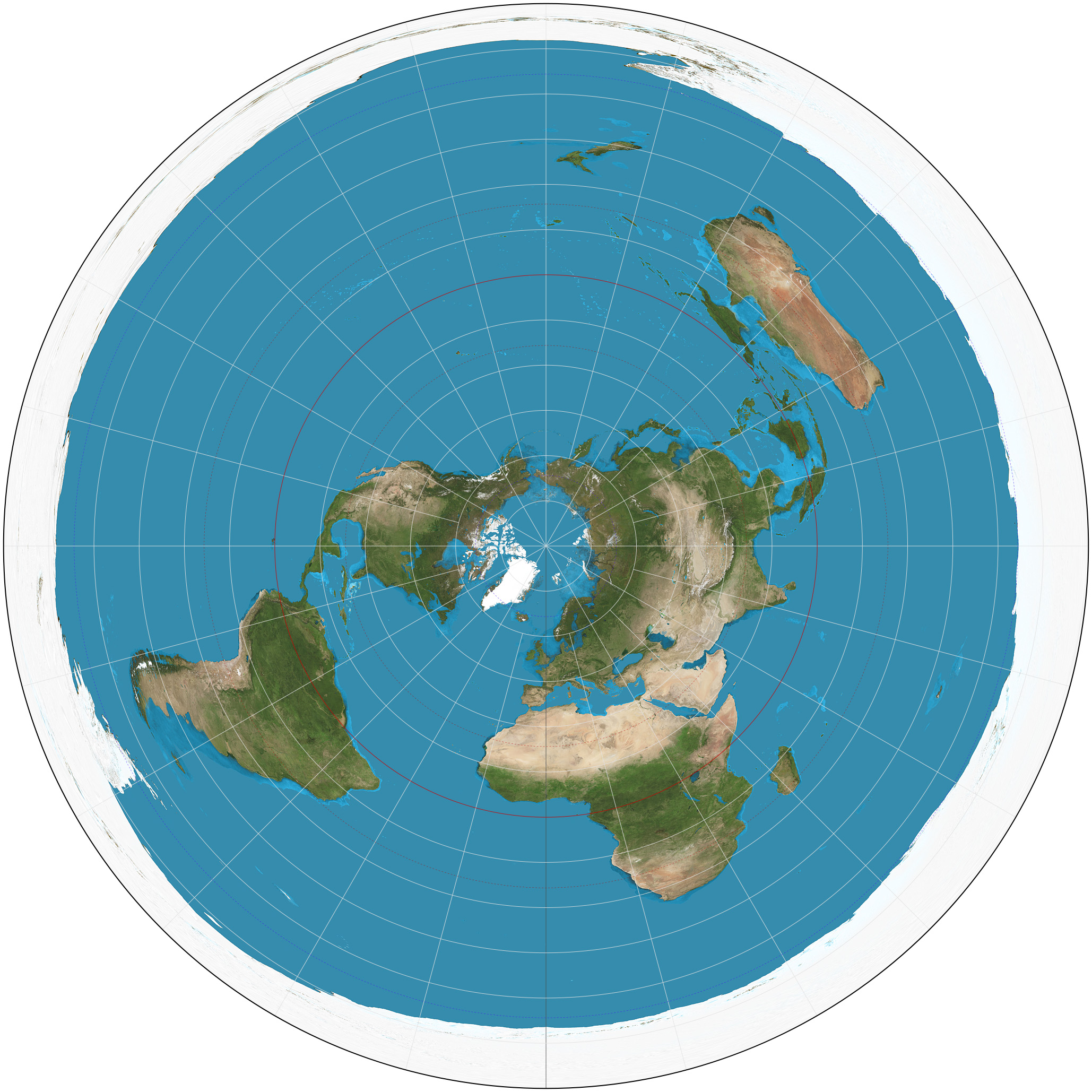 2058x2058 Azimuthal Equidistant Projection