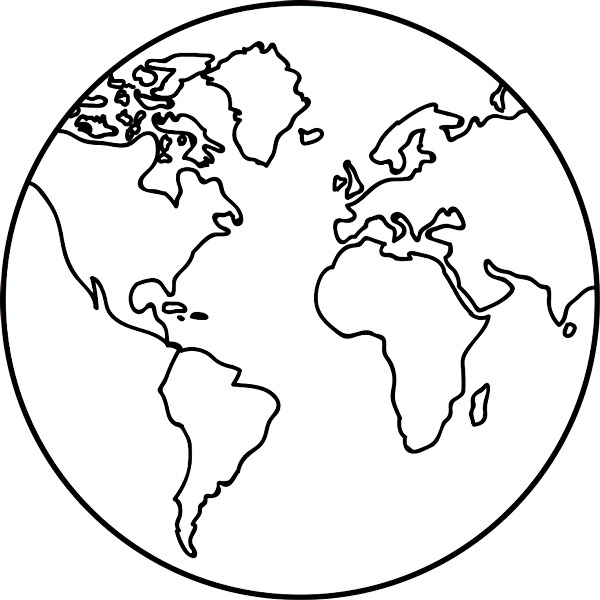 600x600 Collection Of Free Earth Transparent Outline Download On Ui Ex