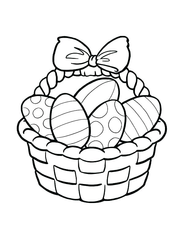 600x776 Easter Basket Drawing Drawings Easter Egg Basket Drawing
