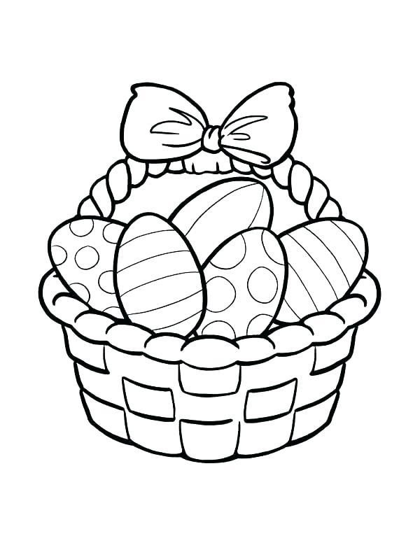600x776 Easter Basket Drawing Drawings Easter Egg Basket Drawing
