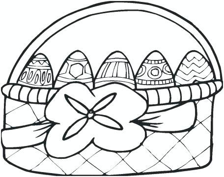 456x360 Easter Basket Printable Coloring Pages Basket Drawings Views Bunny