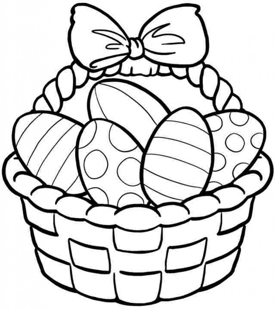 913x1024 Coloring Pages Easter Basket Fresh Drawing For Kids At Magnificent