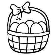 216x216 Easter Egg Basket Drawing Hd Easter Images