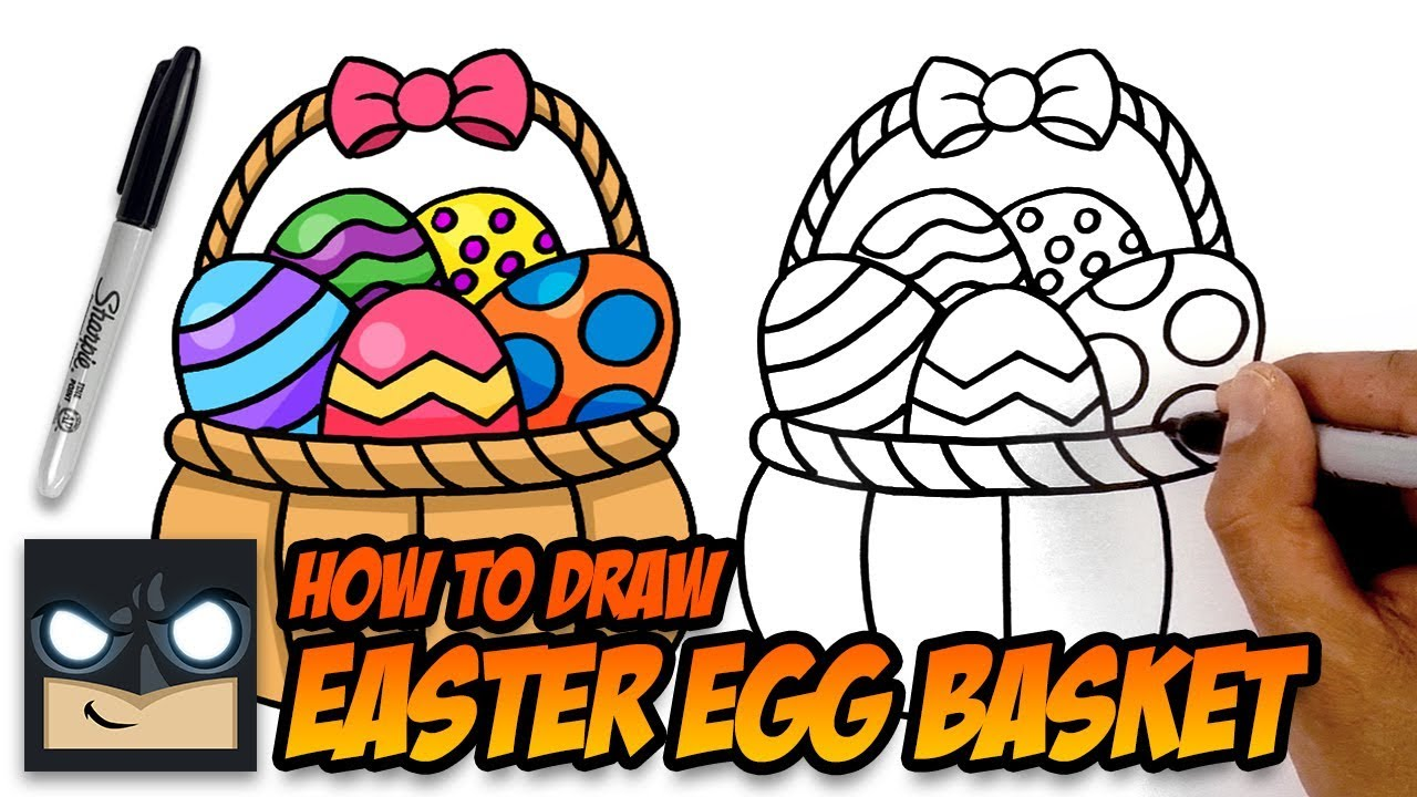 1280x720 How To Draw Easter Basket Step