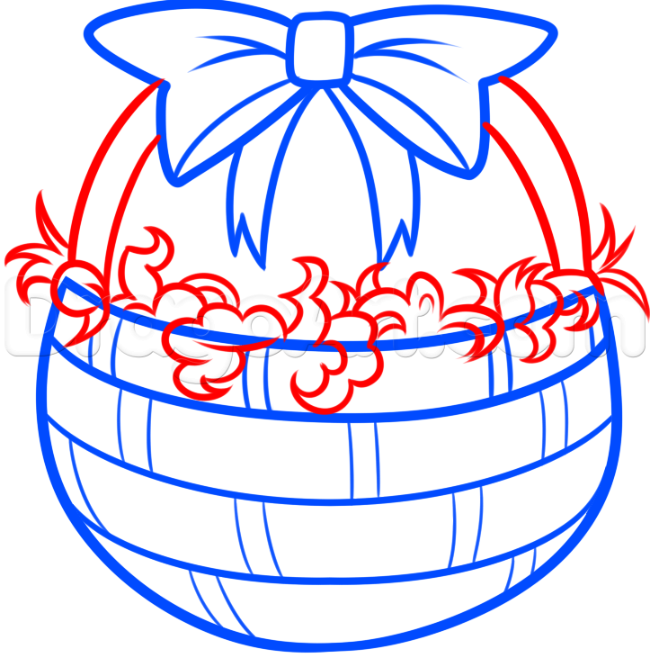 723x731 How To Draw An Easter Basket, Step