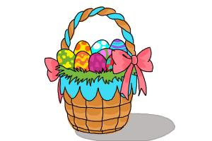 300x200 How To Draw An Easter Basket