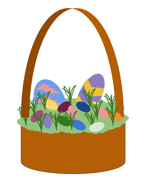 584x720 Digital Directed Draw Easter Basket