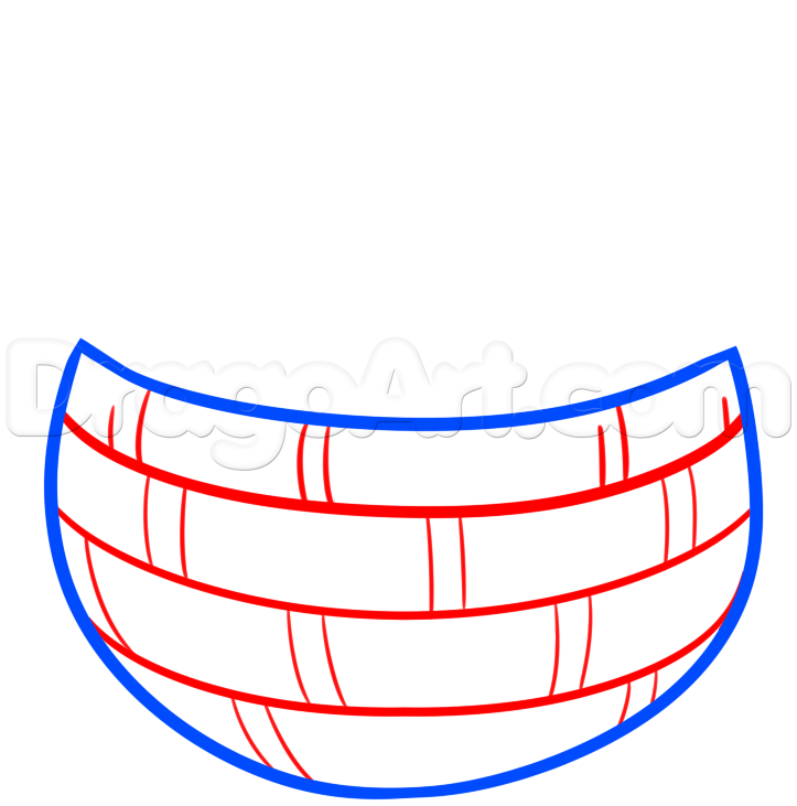 723x731 Draw An Easter Basket, Step