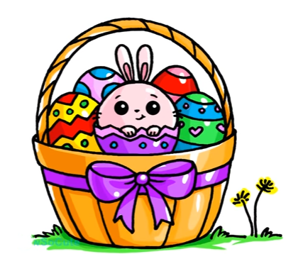 427x382 Easter Basket Artdrawings In Kawaii Drawings, Cute