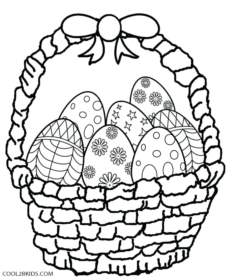800x968 Easter Basket Coloring Pages Spring Egg Coloring
