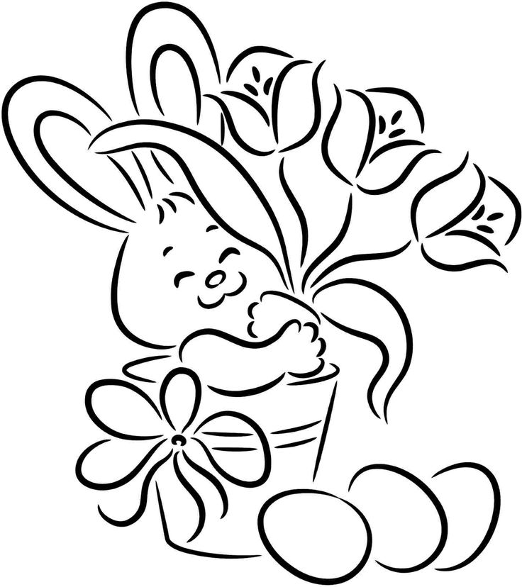 736x828 Easter Line Drawings Happy Easter Thanksgiving