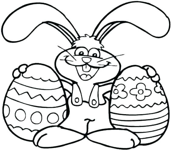 567x500 Easter Bunny Drawing For Kids