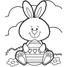 236x236 Easter Printable Coloring Pages Easter Eggs And Bunnies To Color