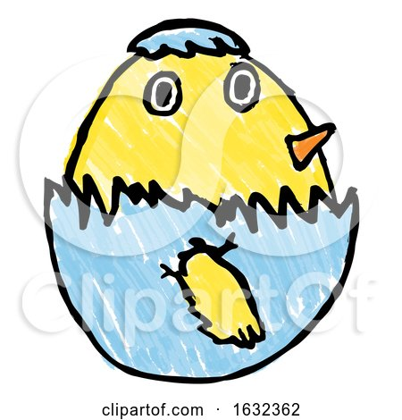 450x470 Cute Easter Chick Childs Drawing