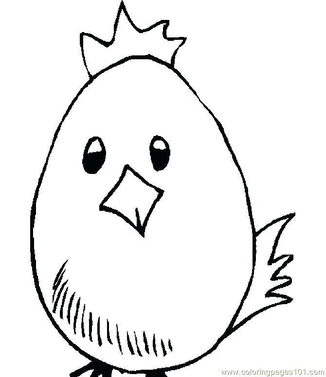 670x776 Easter Chick Coloring Pages Free Colouring Ilovez Club