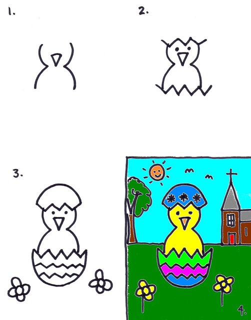 502x640 Easter Chick Drawing For Kids Art For Kids