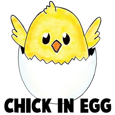 400x400 How To Draw A Baby Chick In An Egg Shell For Easter Drawing