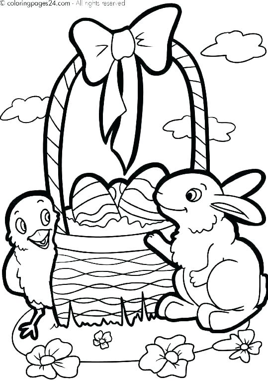 539x765 Easter Basket With Eggs Coloring