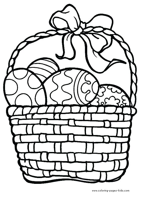 561x779 Easter Egg Basket Coloring Pages Strong Drawing Ideas Egg Coloring
